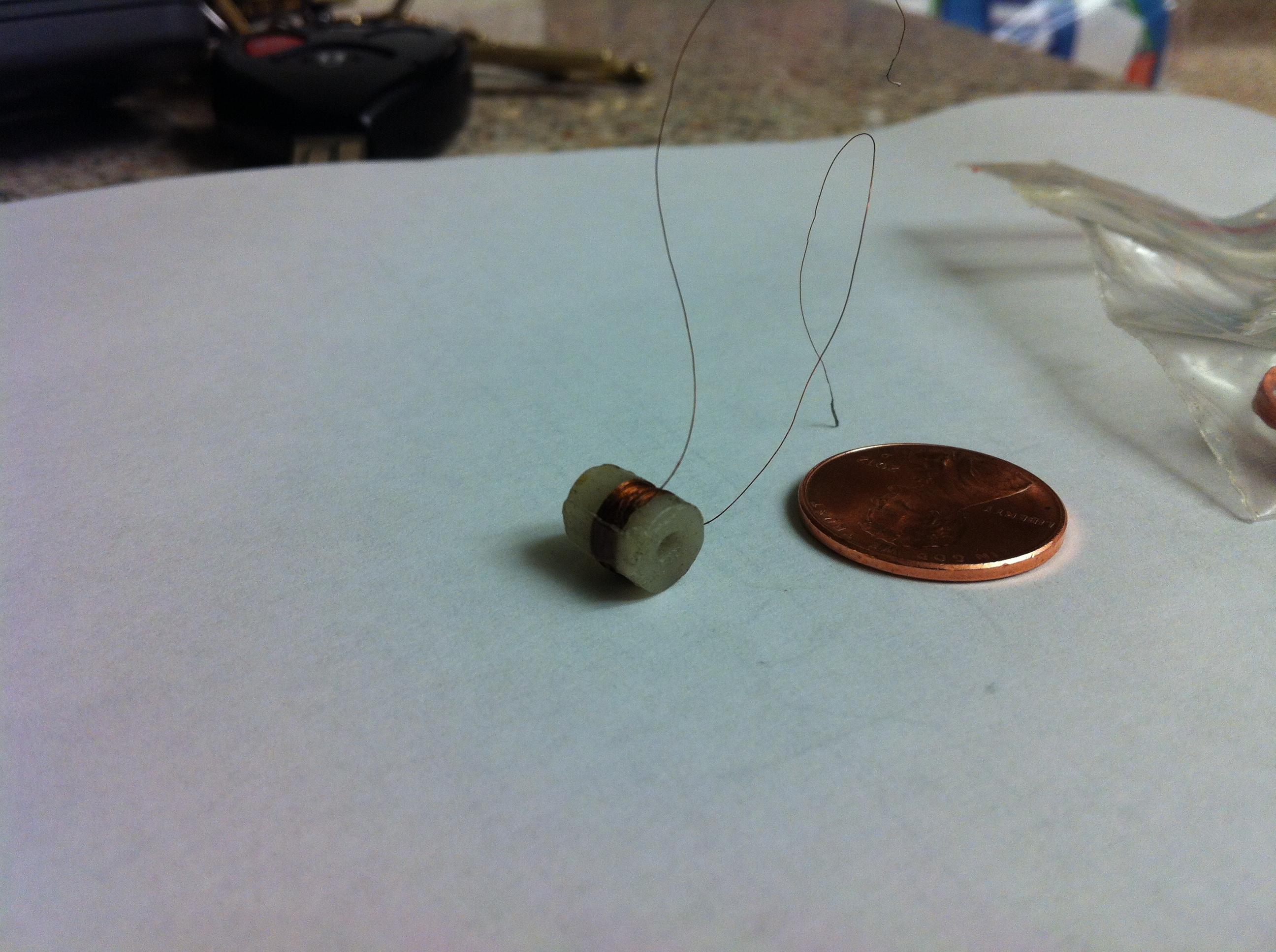 Wax actuator coil
