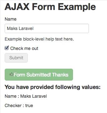 Laravel Ajax
