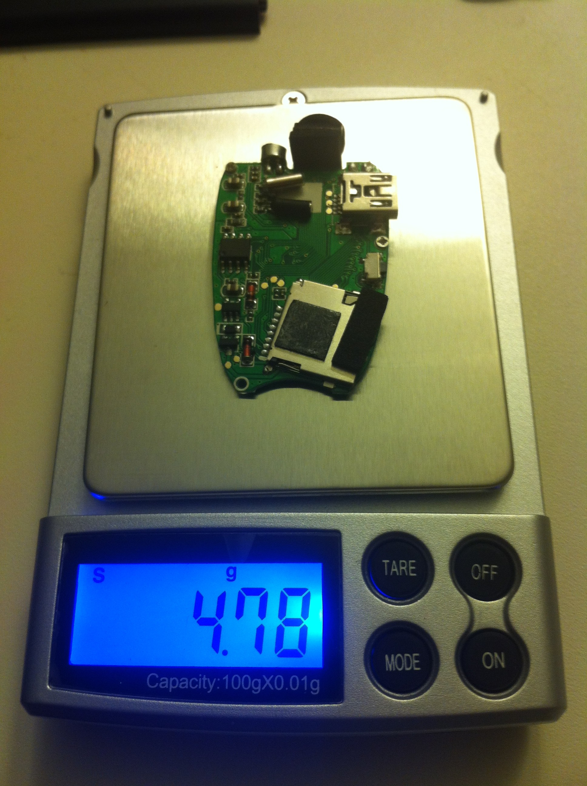 keychain camera weight