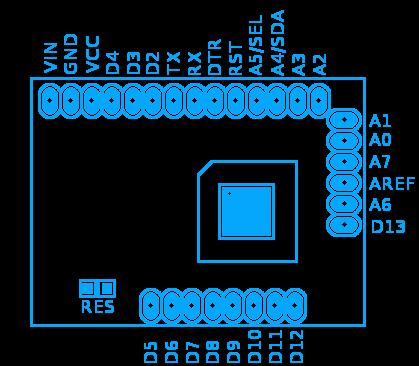 femtoduino pins layout