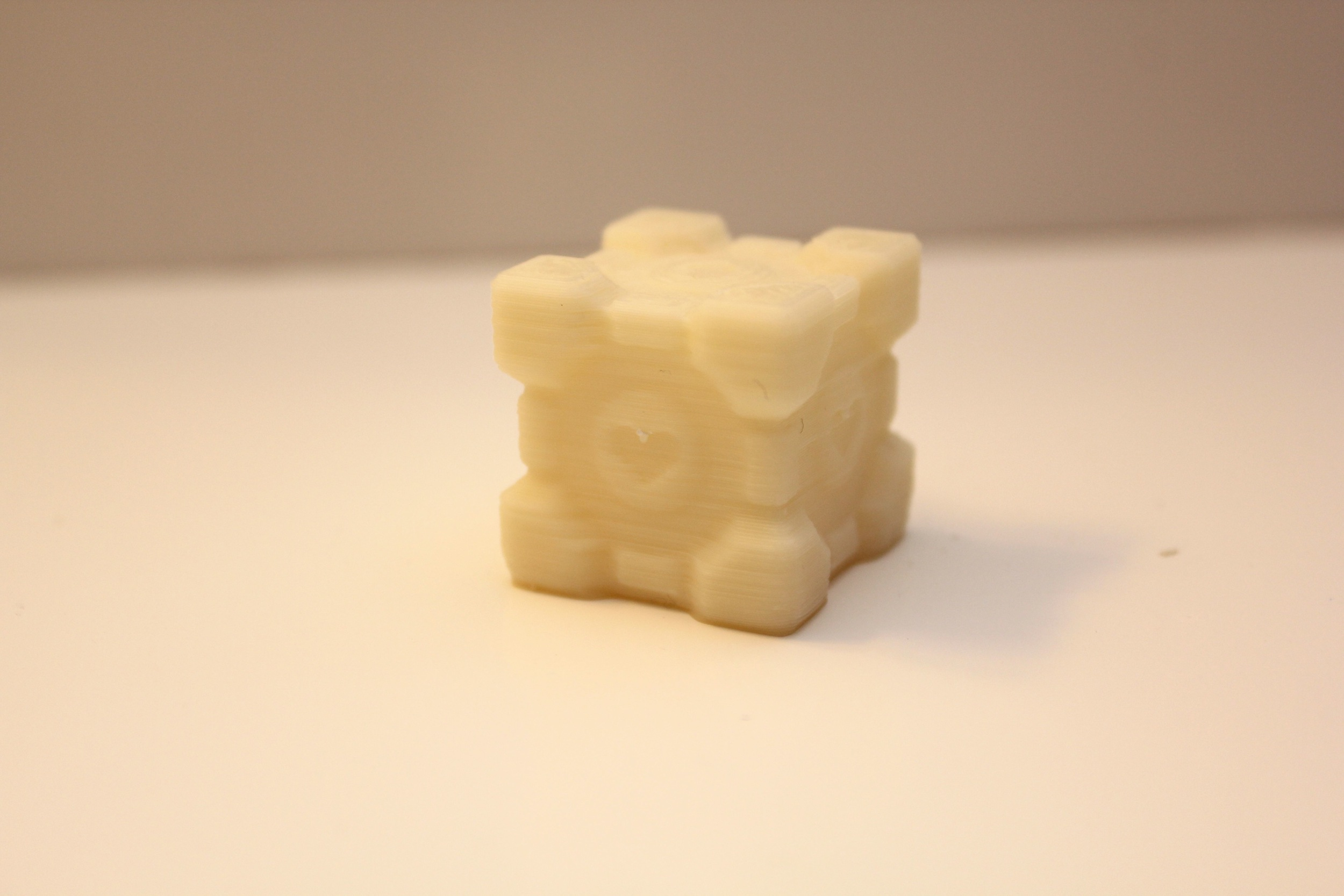 Companion Cube printed with 0.2mm layer thickness