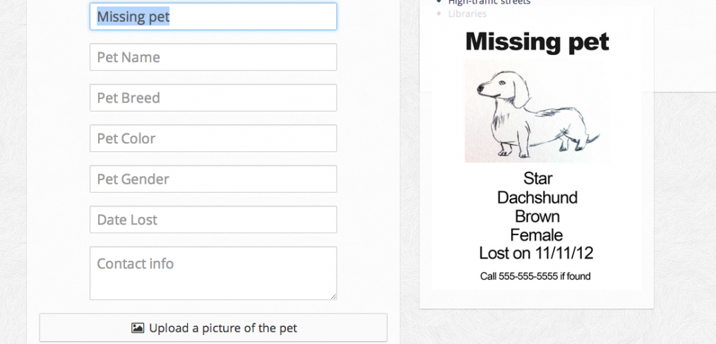 small laravel 4 app missing pet flyer generator maks surguy s