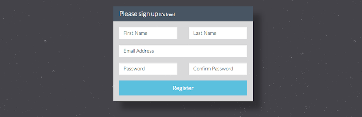 registration Form Bootstrap