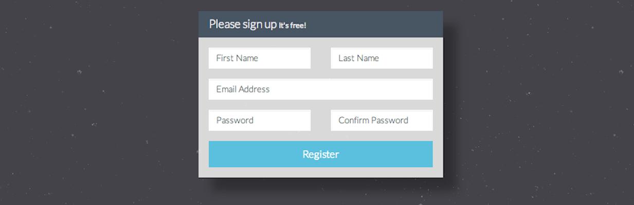 registration Form Bootstrap