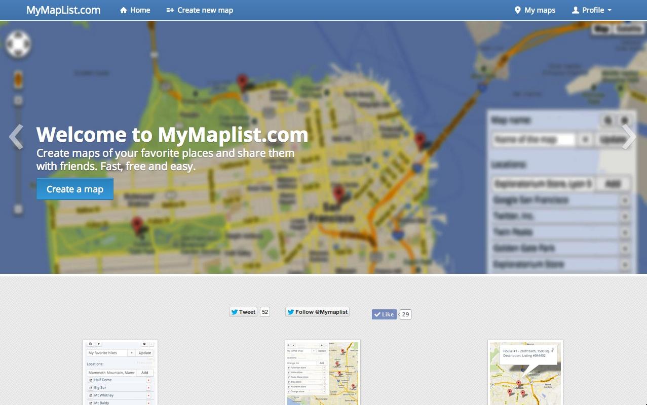 mymaplist-home