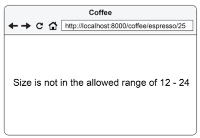 Figure 3.10 Showing an error message from a filter
