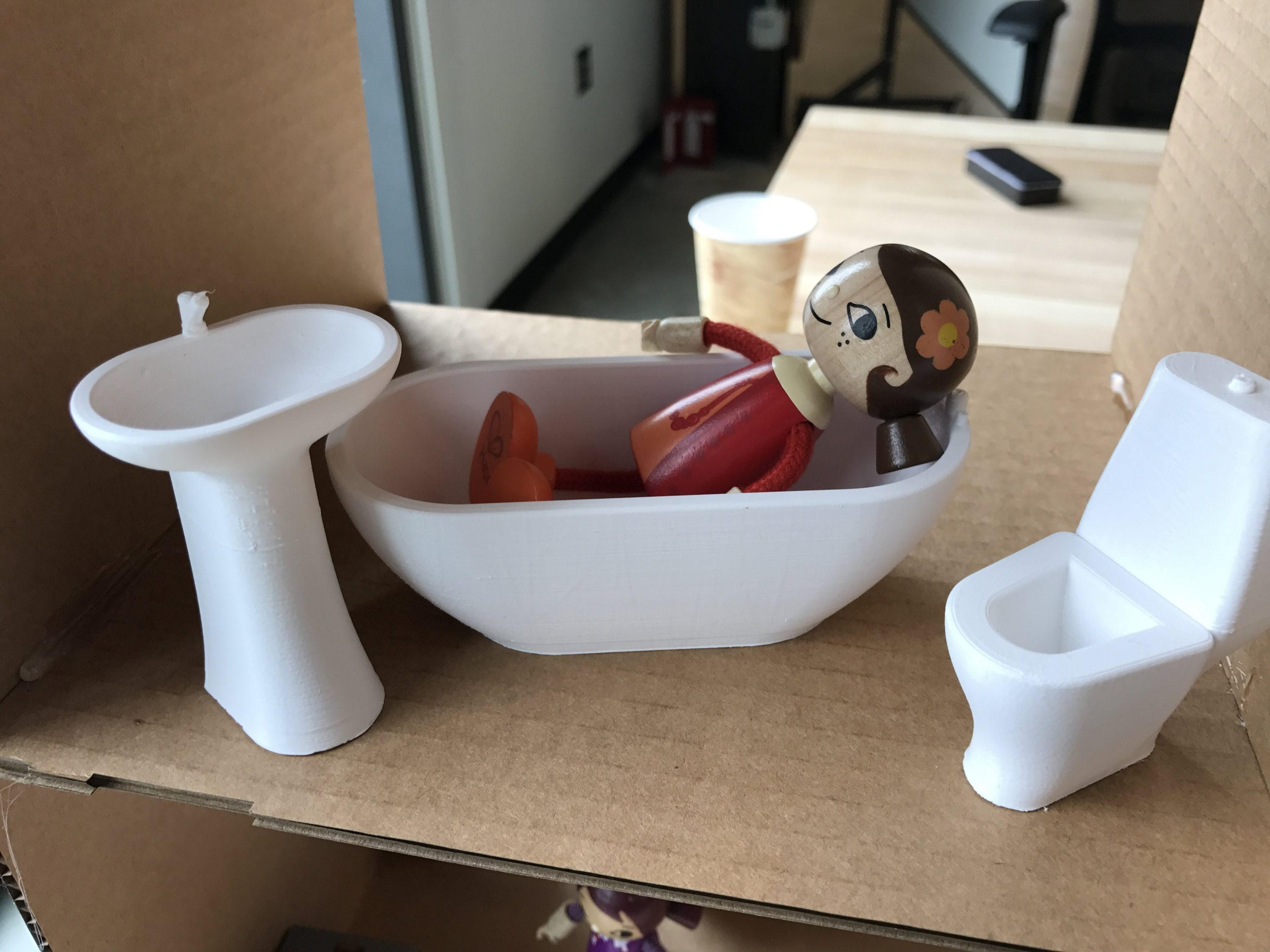 3d printed bath set
