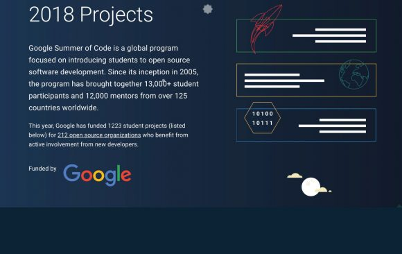 Google Summer of Code 2018