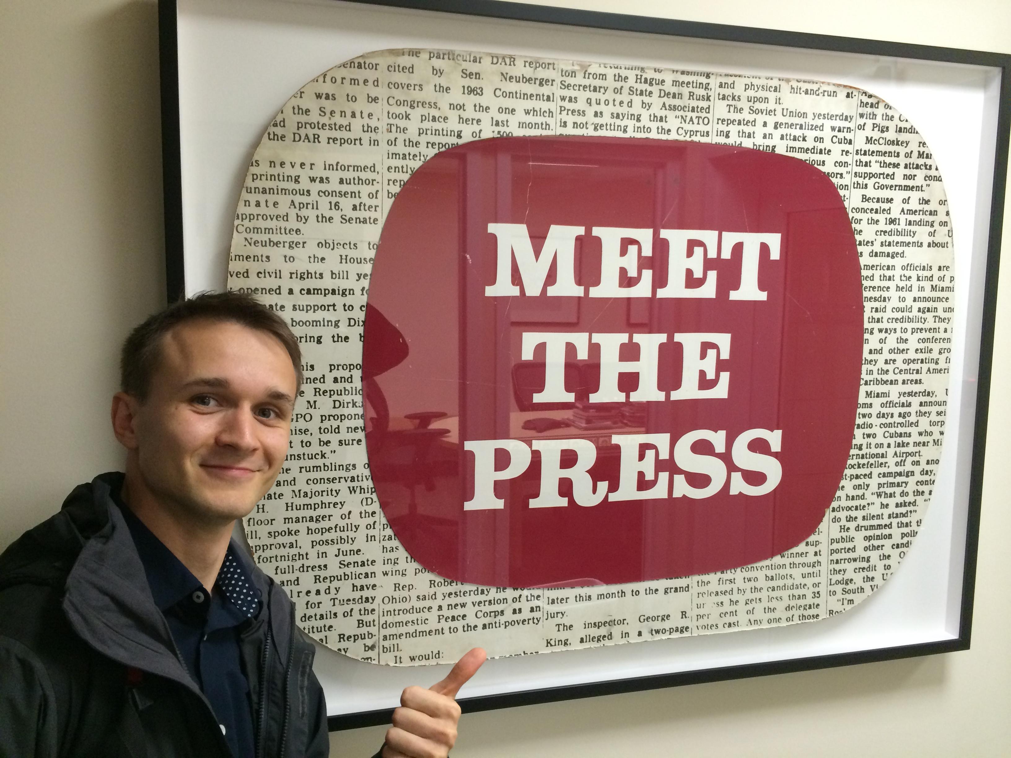 "Meeting ""Meet the Press"" crew"