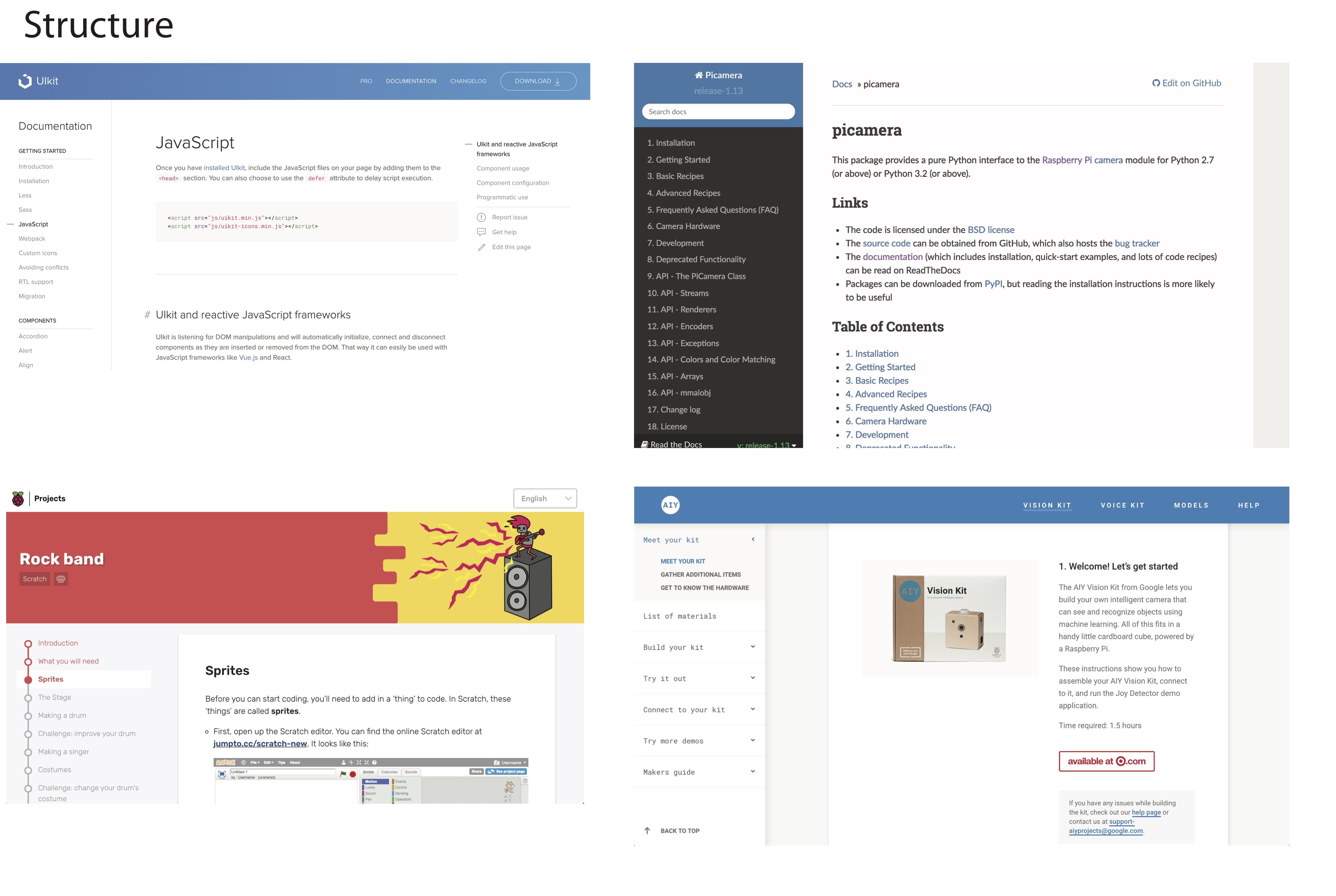 UI elements study