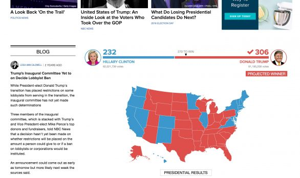 NBC News - Live Blogging platform