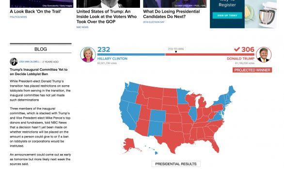 NBC News - Live Blogging platform
