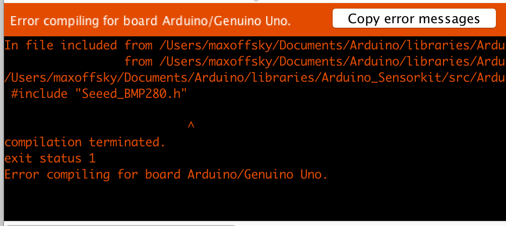 Arduino IDE error debugging